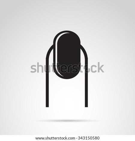 Nail icon isolated on white background. - stock photo