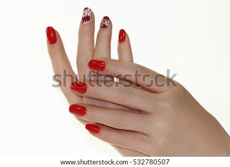 Nail Polish. Art Manicure.  Beauty hands. Stylish Colorful Nails