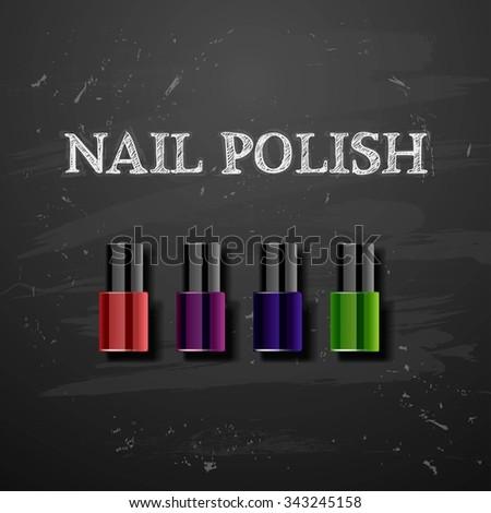 nail polish decorative cosmetics - stock photo