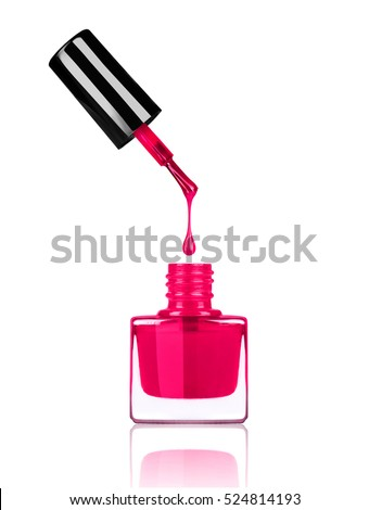 Nail Polish Dripping Brush Into Bottle Stock Photo (Royalty Free ...