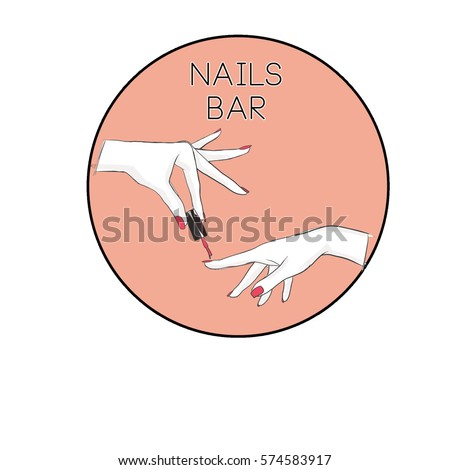 nail salon logo symbol of manicure design sign nail care - Nail Salon Logo Design Ideas