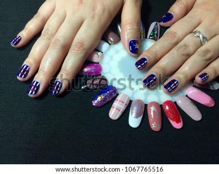 Nails Art Beautiful Manicure Nail Art Stock Photo Royalty Free