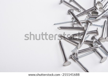 Nails. Image with shallow depth of field. - stock photo