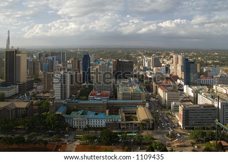 nairobi view from the highest building - stock photo