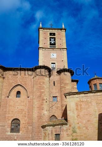 Najera Plaza Mayor The way of Saint James in La Rioja of Spain - stock photo
