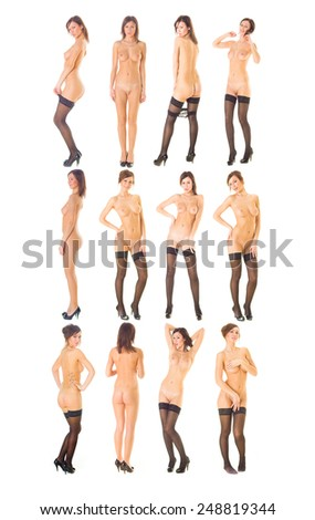 Naked and Charming Nude Model  - stock photo