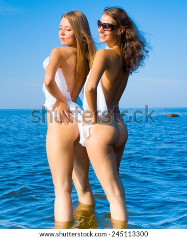 Naked Friends - stock photo