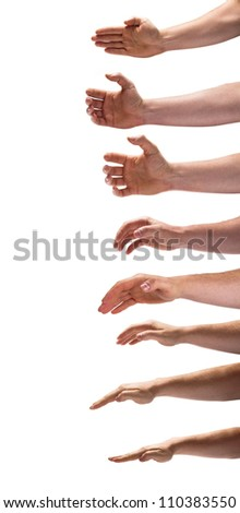 Naked hands - stock photo