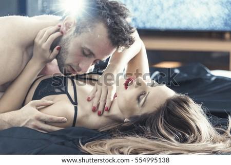 Boy Kiss On Girl Breast