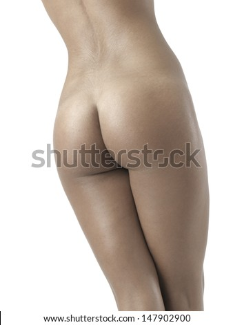 naked sexy female body - stock photo