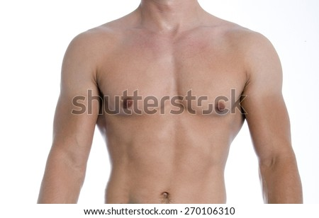 naked smooth muscular male torso