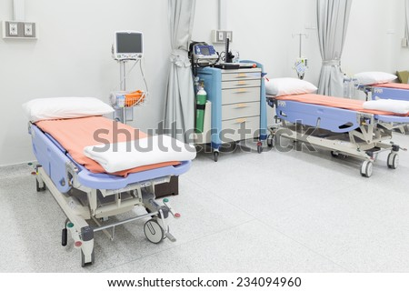 NAKHONRATCHASIMA, THAILAND - November 15, 2014: Modern and comfortable equipped in hospital room, November 15, 2014 in Nakhonratchasima, Thailand.