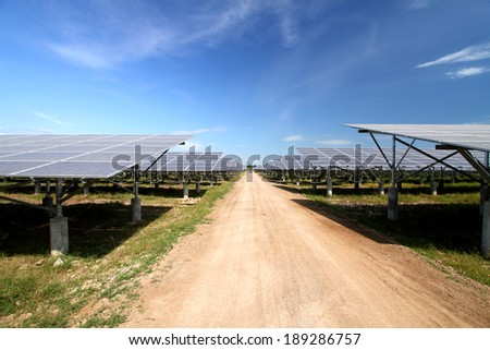 NAKHONSAWN-THAILAND-NOVEMBER 11 : Solar Farm Construction To generate electricity Of solar energy  on November 11, 2013 in Nakhonsawan province, Thailand