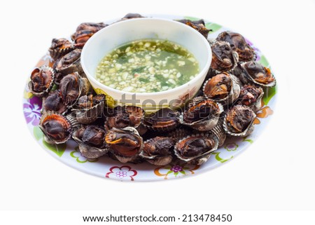 Nam prik ong, Thai northern style chili paste (meat and tomato spicy dip). - stock photo