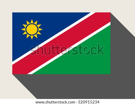 Nambia flag in flat web design style. - stock photo
