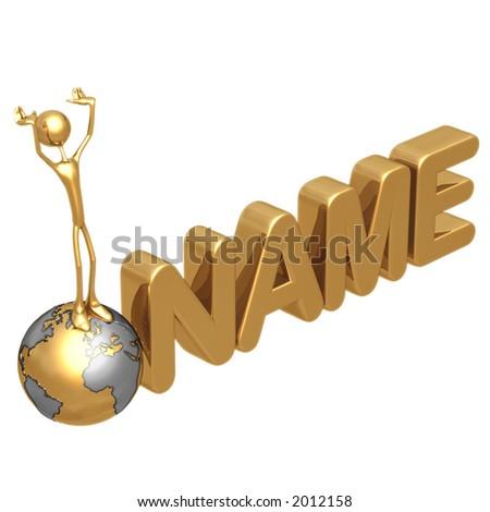 NAME - stock photo