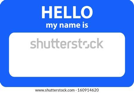 Name card - stock photo