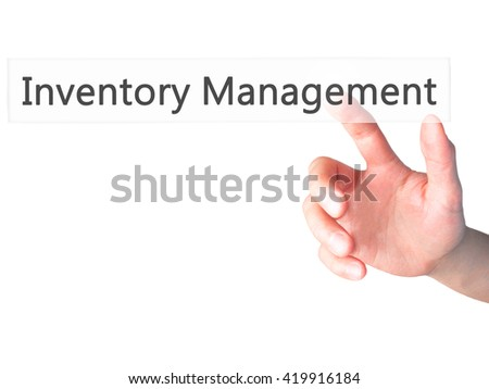 NAME - Hand pressing a button on blurred background concept . Business, technology, internet concept. Stock Photo