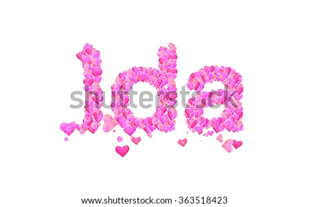 """""""ida_lettering"""" Stock Photos, Royalty-Free Images ..."""