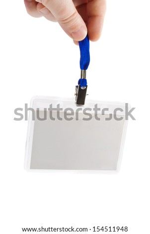 Name tag badge over white - stock photo