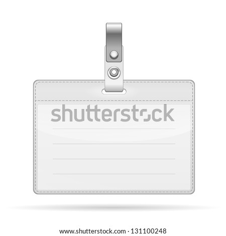Name Tag Isolated on white background