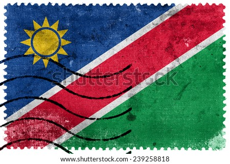 Namibia Flag - old postage stamp