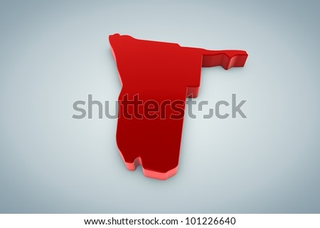 Namibia Map - stock photo