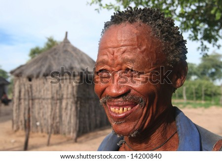 NAMIBIA - UNKNOWN: An unidentified older man smiles in this undated image taken in Namibia.