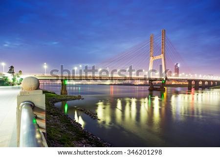 Nanchang eight one bridge - stock photo