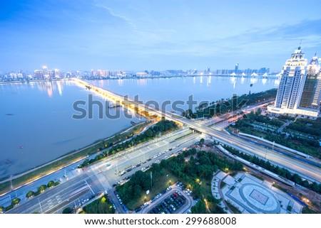 Nanchang, Jiangxi river views - stock photo