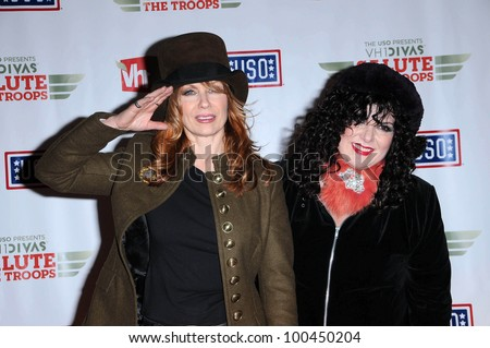 Nancy and Ann Wilson of Heart  at VH1 Divas Salute The Troops, Marine Corps Air Station Miramar, San Diego, CA. 12-03-10