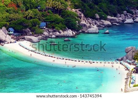 Nang Yuan Island Viewpoint , Surat Thani , Thailand - stock photo