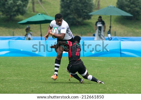 Nanjing China August 19 Fiji Rugby Team White Plays