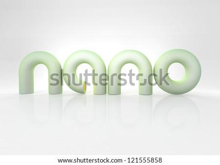 nano technology sign - stock photo