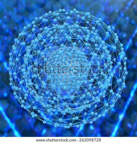 Nanostructure - 3d rendered illustration - stock photo