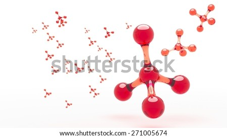 Nanotechnology. Carbon atoms abstract molecule  - stock photo