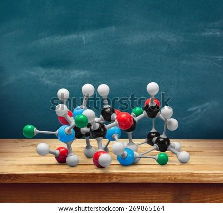 Nanotechnology. Molecules - stock photo