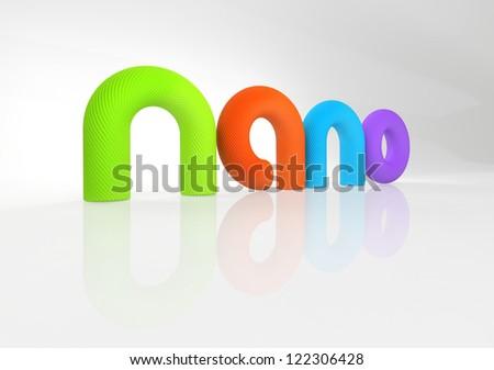 nanotechnology symbol - stock photo