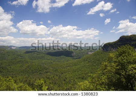 Nantahala National Forest Overlook off Highway 64 between Highlands and Cashiers North Carolina