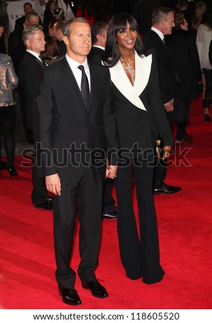 Naomi Campbell and Vladislav Doronin arriving for the Royal World Premiere of 'Skyfall' at Royal Albert Hall, London. 23/10/2012 Picture by: Alexandra Glen - stock photo