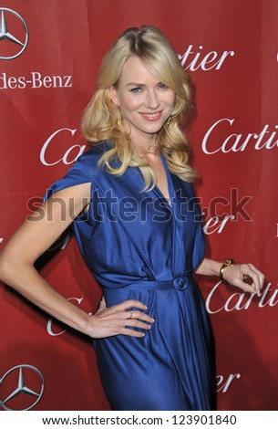 Naomi Watts at the Awards Gala for the 2013 Palm Springs Internatonal Film Festival. January 5, 2013  Palm Springs, CA Picture: Paul Smith - stock photo