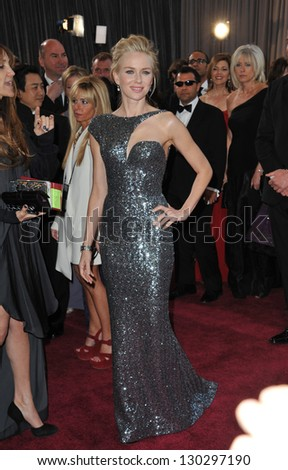 Naomi Watts at the 85th Academy Awards at the Dolby Theatre, Hollywood. February 24, 2013  Los Angeles, CA Picture: Paul Smith - stock photo