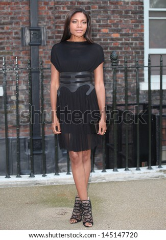 Naomie Harris arriving for the launch party for the Fashion Rules exhibition, Kensington Palace, London. 04/07/2013