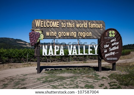 Napa Valley Sign - stock photo