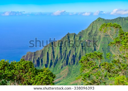 Napali Coast in Kauai, Hawaii Islands
