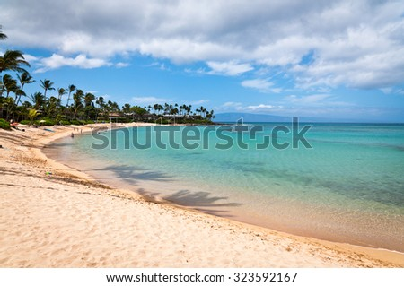 Napili beach on Maui island