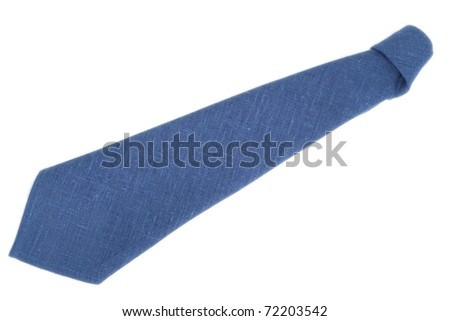 Napkin folded as necktie isolated on white background
