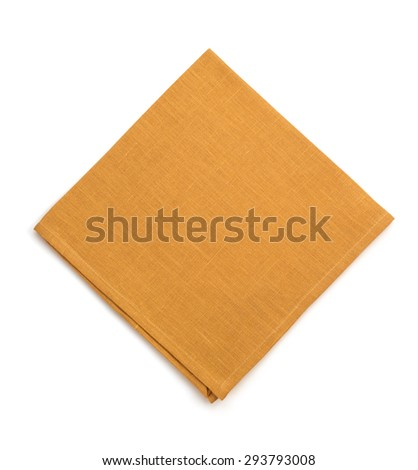 napkin isolated on white background - stock photo