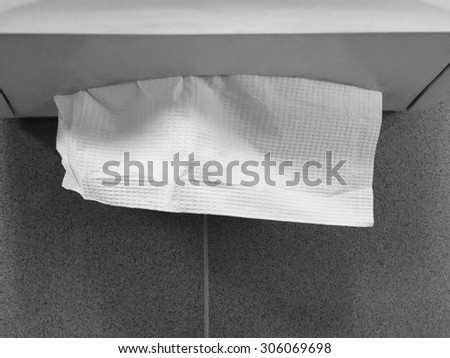 Paper towel dispenser stock images royalty free images for Black and white bathroom paper