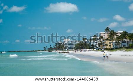 Naples Beach, Florida USA, Florida Tourism  - stock photo